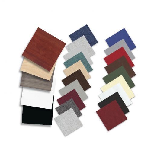 Samples in fabrics and finishes